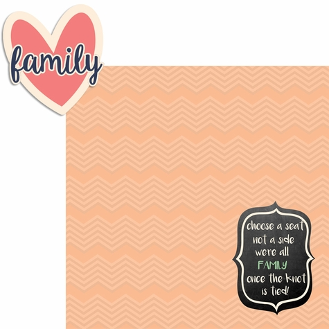 Country Wedding: Family 2 Piece Laser Die Cut Kit