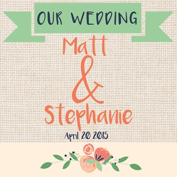 Country Wedding: Our Wedding Custom 12 x 12 Paper