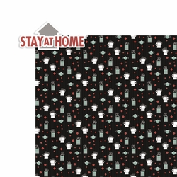 Covid 19: Stay at Home 2 Piece Laser Die Cut Kit