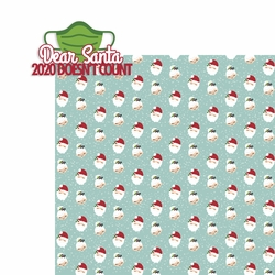 3SYT Covid Christmas: Dear santa 2020 doesn't count 2 Piece Laser Die Cut Kit