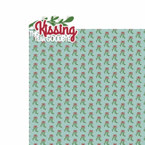 Covid Christmas: Kissing the year goodbye 2 Piece Laser Die Cut Kit