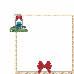 Covid Christmas: Merry Covid Christmas 2 Piece Laser Die Cut Kit