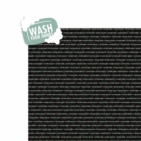 Covid: Wash your hands 2 Piece Laser Die Cut Kit