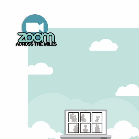 Covid: Zoom Across the Miles 2 Piece Laser Die Cut Kit