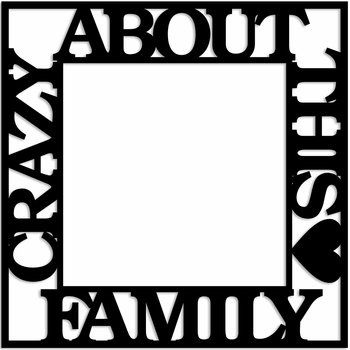 Crazy about this Family 12 x 12 Overlay Laser Die Cut