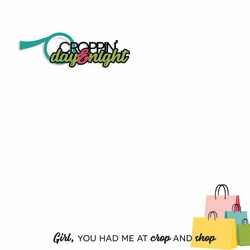 Crop Time: Croppin' Day and Night 2 Piece Laser Die Cut Kit