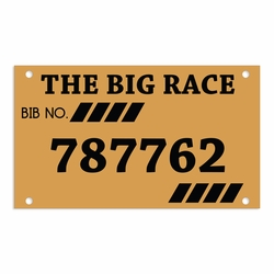 Cross Country: Custom Race Bib Laser Die Cut