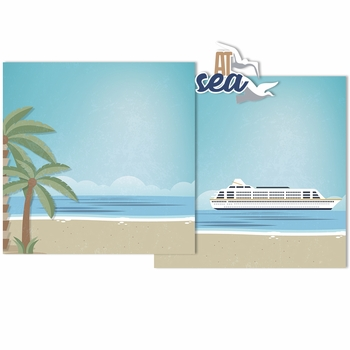 Cruise: At Sea Double Page Layout Kit
