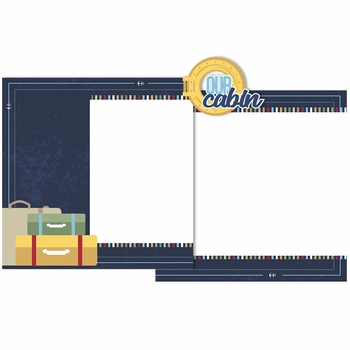 Cruise: Our Cabin Double Page Layout Kit