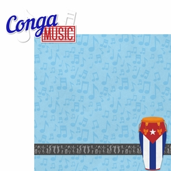 Cuba: Conga Music 2 Piece Laser Die Cut Kit