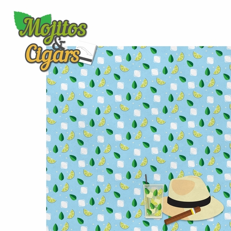 Cuba: Mojitos and Cigars 2 Piece Laser Die Cut Kit