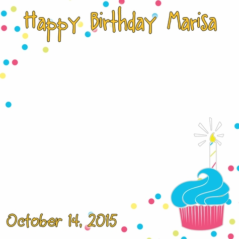 Custom Birthday Cupcake 12 x 12 Paper