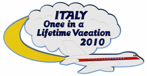 Custom Once in a Lifetime Vacation Laser Die Cut