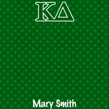 Custom Sorority Polka-Dotted with Name 12 x 12 Paper