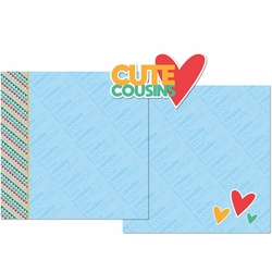 Cute Cousins Double Page Layout Kit