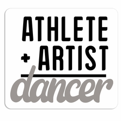 Dance: Athlete + Artist  Laser Die Cut