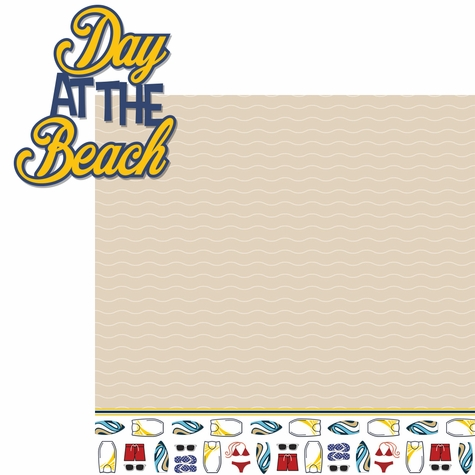 Day At The Beach: Day At The Beach 2 Piece Laser Die Cut Kit