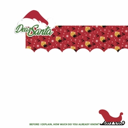 Dear Santa: Dear Santa 2 Piece Laser Die Cut Kit
