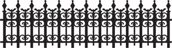 Digital Download: Iron Fence With Bats Border Laser Die Cut