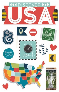 Discover USA 3D Stickers 4.5