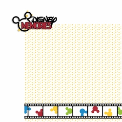 Disney Memories 2 Piece Laser Die Cut Kit