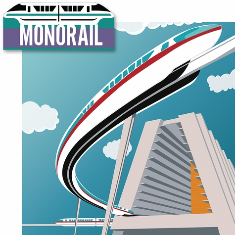 Disney Monorail 2 Piece Laser Die Cut Kit