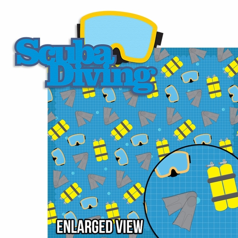 Dive In: Scuba Diving 2 Piece Laser Die Cut Kit
