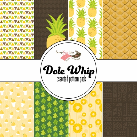 Dole Whip Assorted 12 x 12 Paper Pack