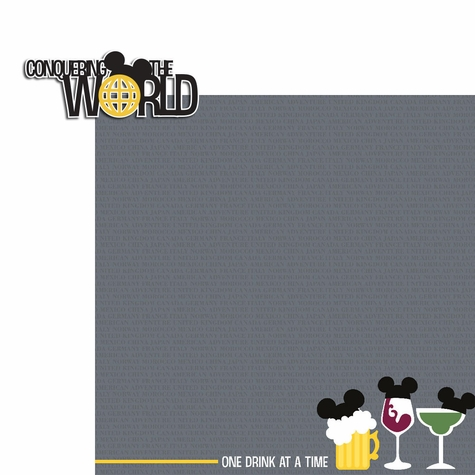 Drinking aroung the World: Conquer the World 2 Piece Laser Die Cut Kit