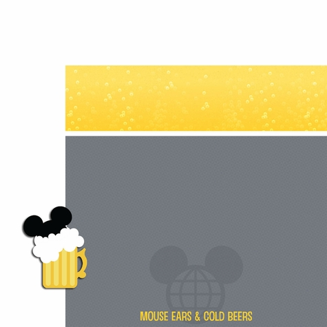 Drinking aroung the World: Mouse Ears and Cold Beers 2 Piece Laser Die Cut Kit
