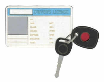Drivers License with Photo Frame Laser Die Cut