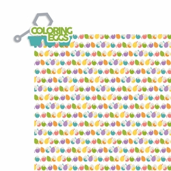 Easter: Coloring Eggs 2 Piece Laser Die Cut Kit