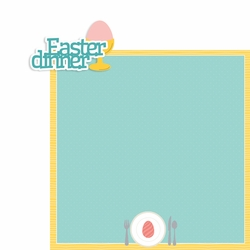 Easter: Easter Dinner 2 Piece Laser Die Cut Kit