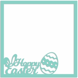 Easter: Happy Easter Overlay Laser Die Cut