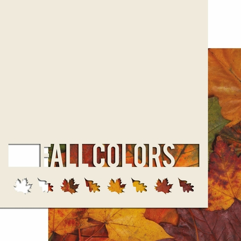 2SYT Fall Colors 12 x 12 Overlay Quick Page Laser Die Cut