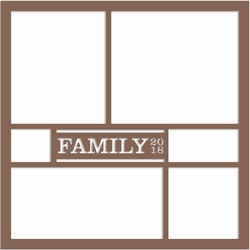 Family 2018 12 x 12 Overlay Laser Die Cut