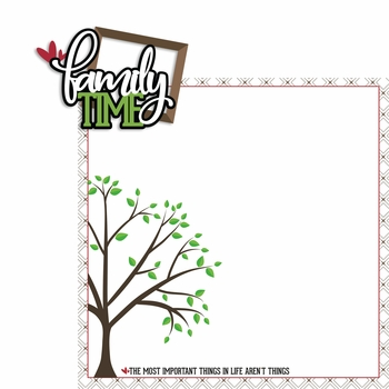 Family Time 2 Piece Laser Die Cut Kit
