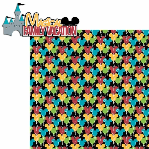 Family Vacation: Magical Family Vacation 2 Piece Laser Die Cut Kit