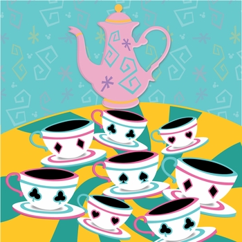 Fantasy Land: Mad Tea Party 12 x 12 Paper