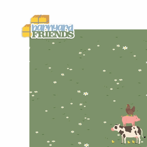 Farm: Barnyard Friends 2 Piece Laser Die Cut Kit