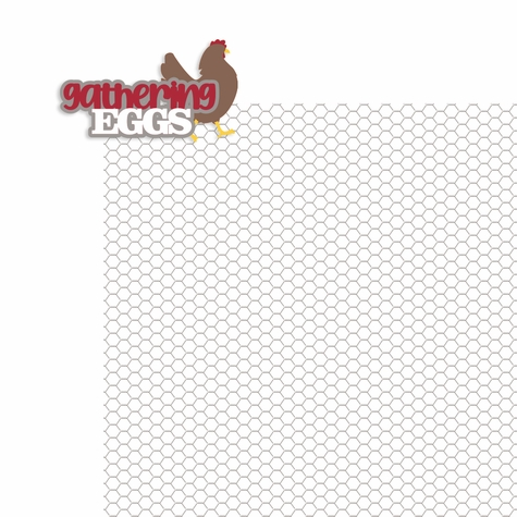 Farm: Gathering Eggs 2 Piece Laser Die Cut Kit