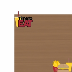 Fast Food: Time to Eat 2 Piece Laser Die Cut Kit