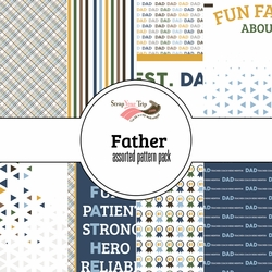 Father Assorted 12 x 12 Paper Pack