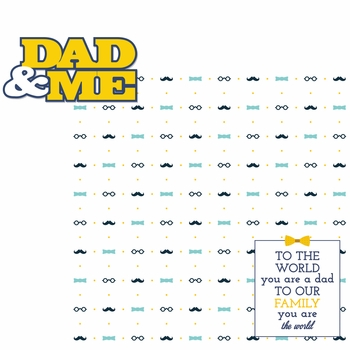 Father's Day: Dad & Me 2 Piece Laser Die Cut Kit