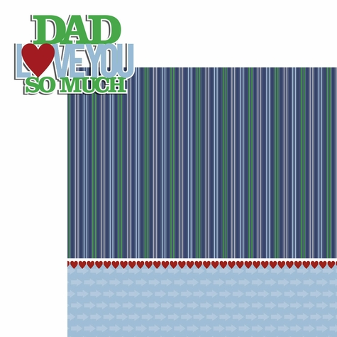 Father's Day: Love You So Much 2 Piece Laser Die Cut Kit