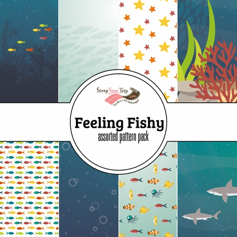Feeling Fishy Assorted 12 x 12 Paper Pack