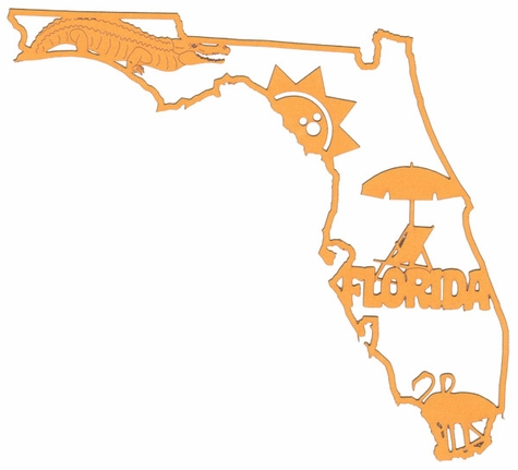 Florida Outline With Images Laser Die Cut
