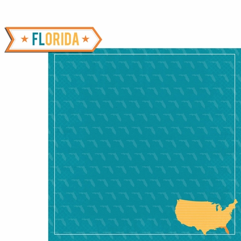 Florida Travels: Fl Label 2 Piece Laser Die Cut Kit