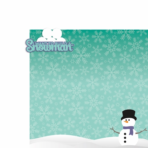 Flurries: Build a Snowman 2 Piece Laser Die Cut Kit
