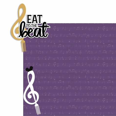 2SYT Food and Wine: Eat to the Beat 2 Piece Laser Die Cut Kit